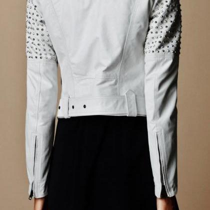 Handmade Women Studded White Color ..