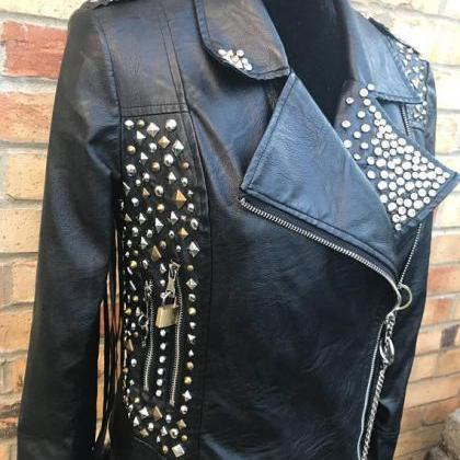Customized Handmade Women Studded B..