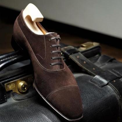 Made To Order Men's Brown Suede Tan..