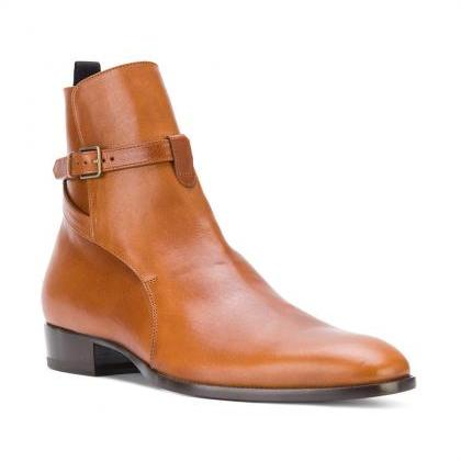 Handcrafted Men's Brown High Ankle ..