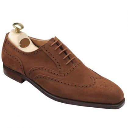 Handmade Men's Brogue Toe Brown Gen..