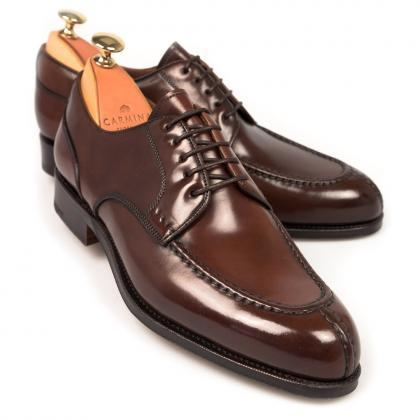 Handmade Men's Shiny Brown Color Pa..