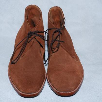 High Ankle Chukka Leather Boots Br..