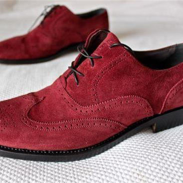 Men's Oxford Maroon Wing tip Brogue..