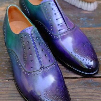 Men's Brogues Design Toe Oxford Two..
