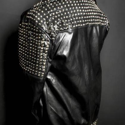 Black Color Premium Leather Jacket ..