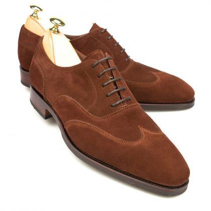 Brown Oxford Wing Tip Plain Rounded..