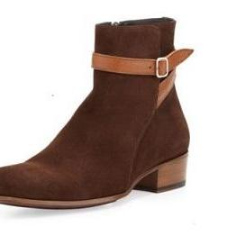 Jodhpurs Brown Real Suede Leather R..