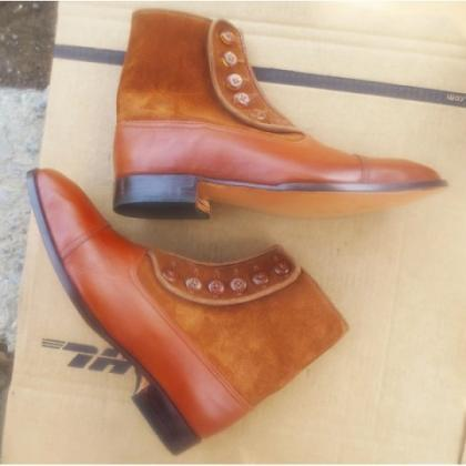 Customize Two Tone Brown High Ankle..