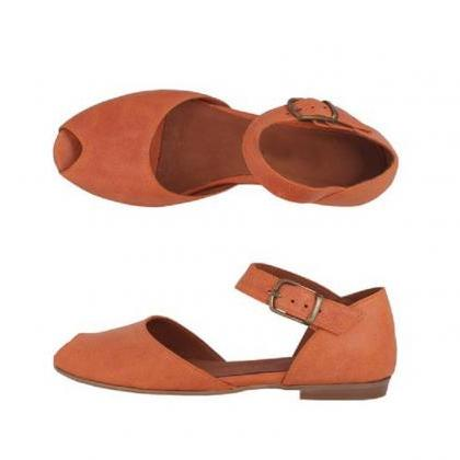 Made To Order New Orange Peep Toe S..