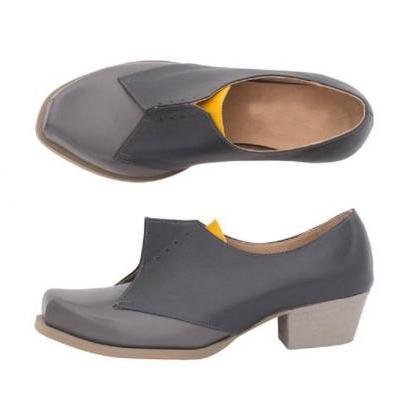 Two Tone Women's Gray Black Oxford ..