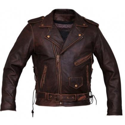 Chosen By Bikers Brown Color Zipper..