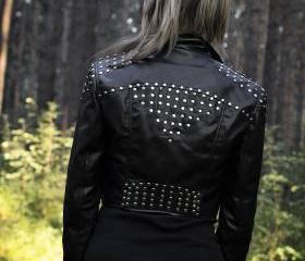 Woman Studded Rock n..