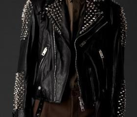 Men's Silver Studded..