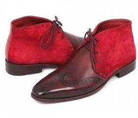 Maroon & Red Suede R..