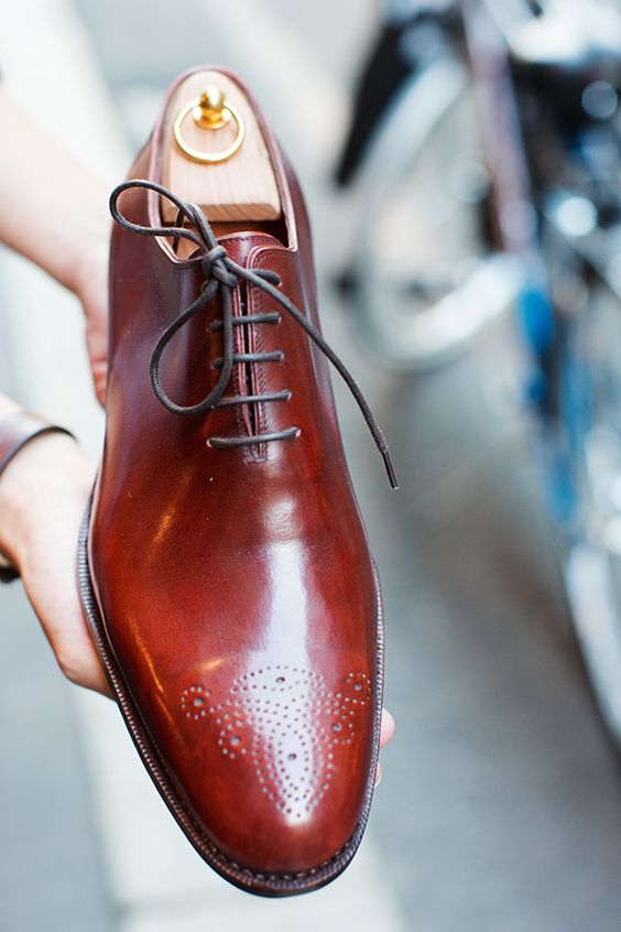 Handmade Men's Two Tone Brown Color Oxford Plain Toe Genuine Leather Lace up Shoes