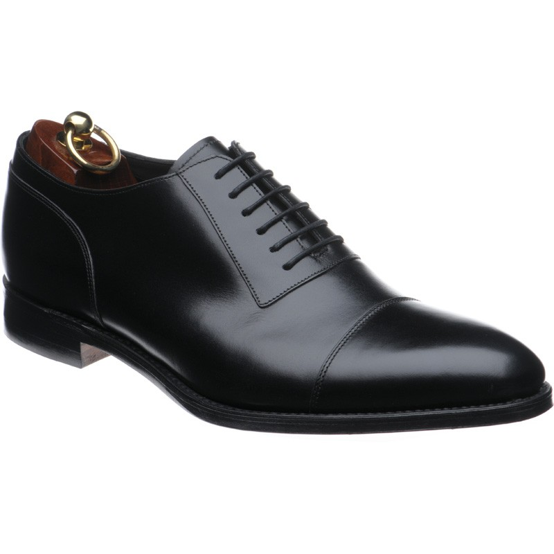 Handmade Black Cap Toe Laceup Genuine Oxford Classical Leather Shoes For Men