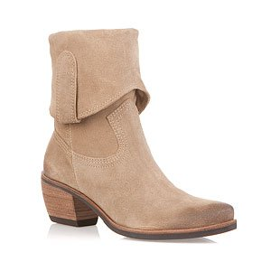 Men Beige Color Cowboy Suede Leather Cuban High Heels Stylish Boots