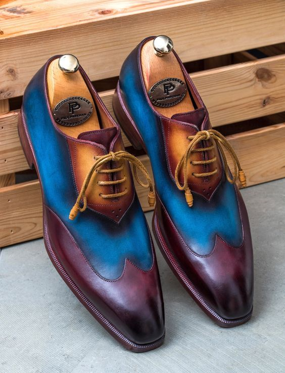 Premium Quality Multi Color Handmade Product Balmoral Genuine Leather Men Party Shoes