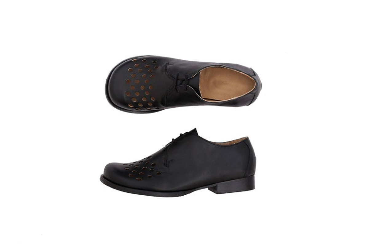 Black Oxford Matching Sole Leather Handmade Women's Classic Fancy Dress Shoes