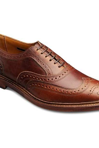 Hand Crafted Men Brown Brogues Toe Wing Tip Lace up Oxford Genuine Leather Shoes
