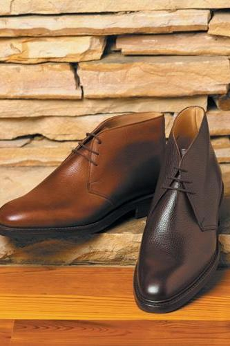 Men Brown Ankle High Lace up Plain Toe Derby Genuine Pure Leather Boots