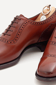 Customized Men Peach Cap Toe Plain Tip Lace up Oxford Pure Genuine Leather Shoes