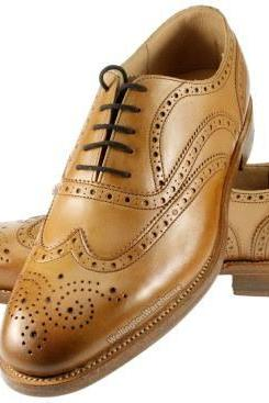 Hand Made Men Brown Wing Tip Brogue Toe Oxford Vintage Pure Leather Lace up Shoes