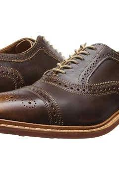 Men Brown Wing Tip Laceup Brogue Toe Genuine Pure Leather Shoes