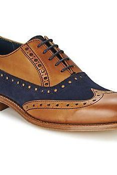 Oxford Two Tone Color Wing tip Brogues Toe Real Leather Lace up Shoes for Men