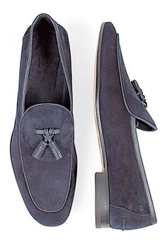 Gray Color Men's Moccasin Loafer Slip Ons Vintage Classical Leather with Tassels