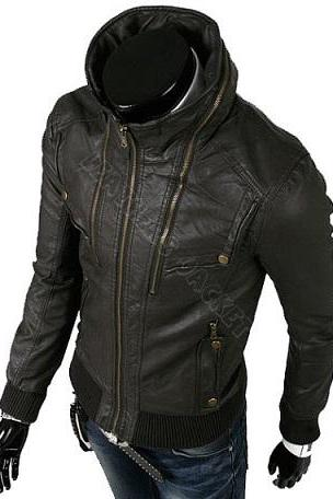 Luxury Black Men Outerwear Fashionable Jacket With Stretchable Waist Sleeves and Fastening Zipper