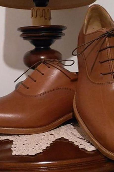 Fineness Pairs Tawny Brown Nice Looks Premium Leather Men Dress Shoes
