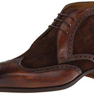 Handcrafted Men's Brogue Ankle Suede Leather Brown Chukka Boots