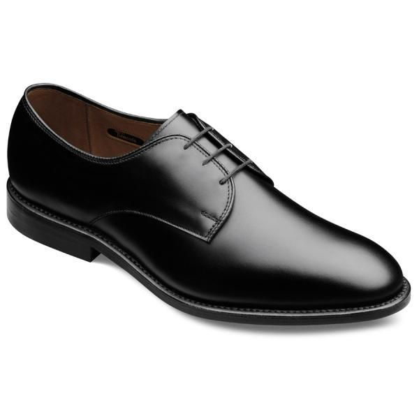 Customized Black Plian Tip Pointed Toe Derby Genuine Leather Shoes For Men