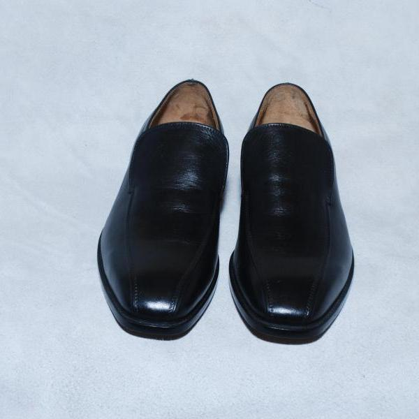 Customized Black Color Simple Genuine Pure Leather Loafers For Men