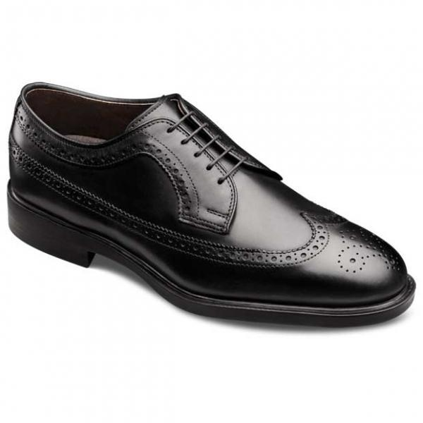 Men Black Brogue Toe Wing Tip Lace up Derby Genuine Pure Leather Shoes