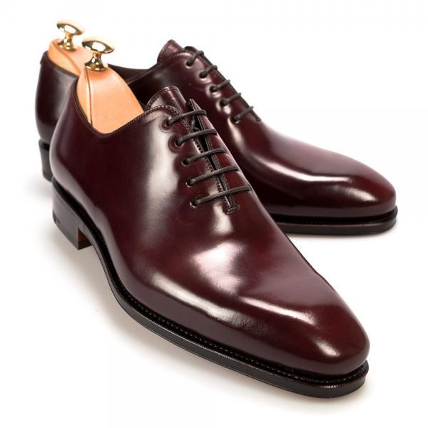 Oxford Maroon Color Rounded Toe Elegant Vintage Leather Lace up Formal Dress Men Shoes