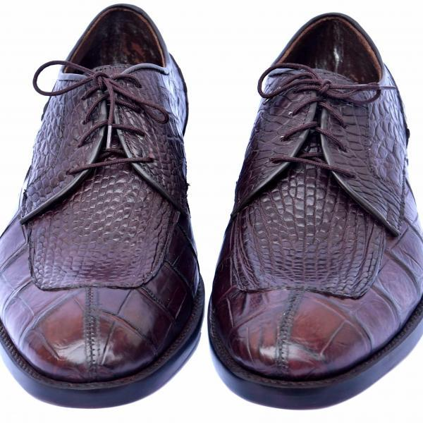 Blucher Excelling Real Crocodile Leather Woody Brown Split Toe Men Dress Shoes