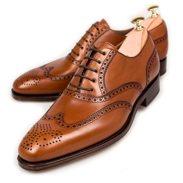Italian Wears Tan Brown Full Brogue Classic Shape Genuine Leather Formal Shoes