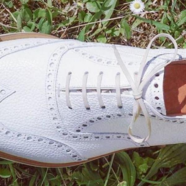Unique Design In White Color Premium Leather Men Oxford Formal Wedding Shoes